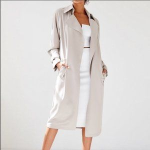 Aritzia Babaton Lawson Trench Coat Bone XXS